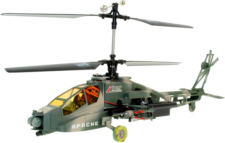 HELICOPTER BB SHOOTING APACHE REMOTE CONTROLLED 2.4GZ 4 CHANNEL HELICOPTER Enlarged Preview