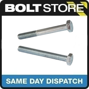 50 PACK M6 X 16 HIGH TENSILE STEEL BOLT SETSCREW 8.8 ZINC BZP FASTENER SCREW