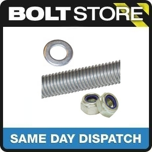 1 METRE M6/6MM THREADED BAR MILD STEEL + 5 NUTS & 5 WASHERS ZINC PLATED