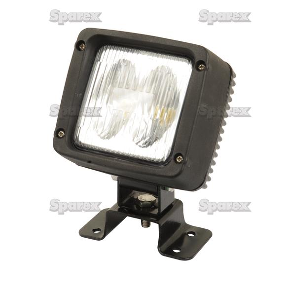 sparex high quality aluminium 12 24v square led work lamp light 1000 lumen ebay. Black Bedroom Furniture Sets. Home Design Ideas