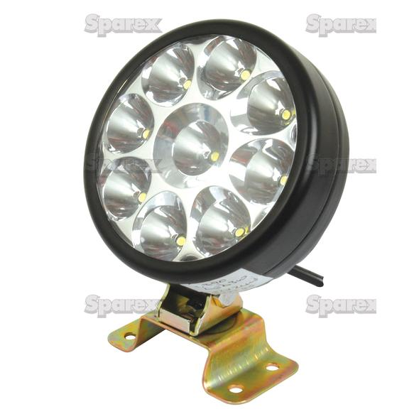 SPAREX HIGH QUALITY 12/24V ALUMINIUM ROUND LED WORK LAMP LIGHT 1350 LUMEN Enlarged Preview