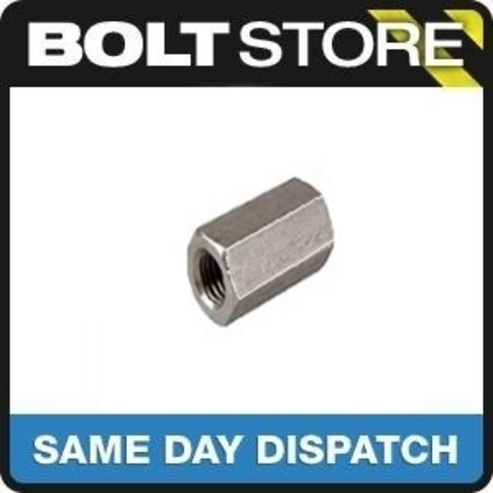 2 PACK M16 X 48 A2 STAINLESS THREADED BAR HEX ROD STUD CONNECTOR DIN 6334 Preview