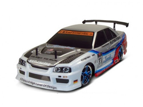 NEW HSP NISSAN SKYLINE FLYING FISH DRIFT CAR ELECTRIC RADIO CONTROLLED RC MODEL  Enlarged Preview