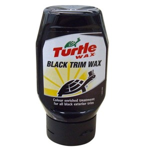 turtle wax black trim wax 300ml for black rubber plastic vinyl bumpers trim ebay. Black Bedroom Furniture Sets. Home Design Ideas