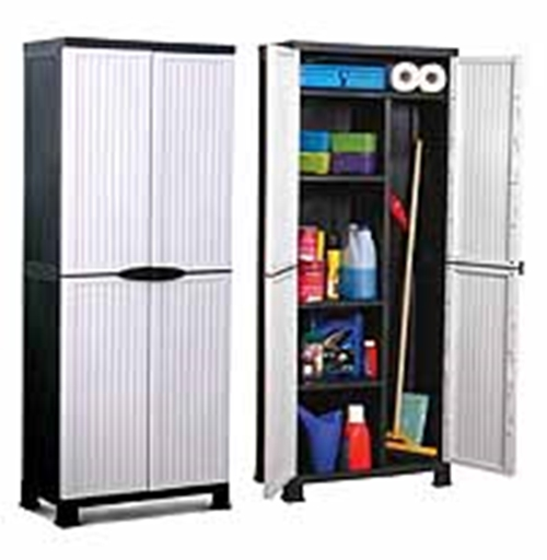 New Plastic Home Garden Shed Storage Unit Cabinet Cupboard