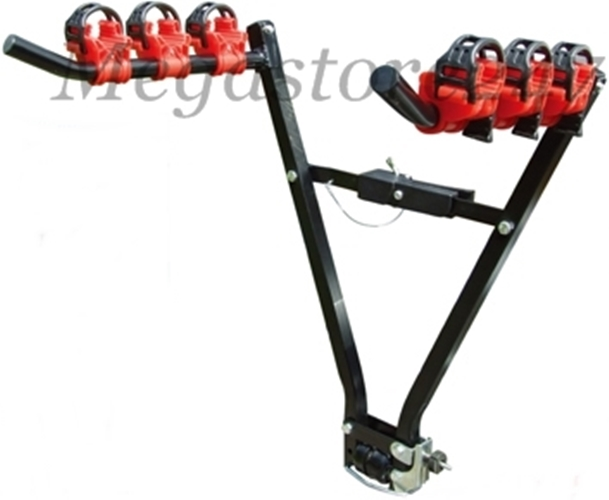 NEW UNIVERSAL TOW BALL MOUNTED BIKE BICYCLE CARRIER CAR RACK FOR 3 BIKES BICYCLE Enlarged Preview