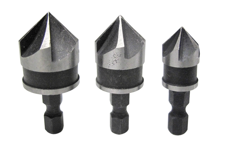 3pc countersink drill bit set carbon steel counter sink bits 12 16