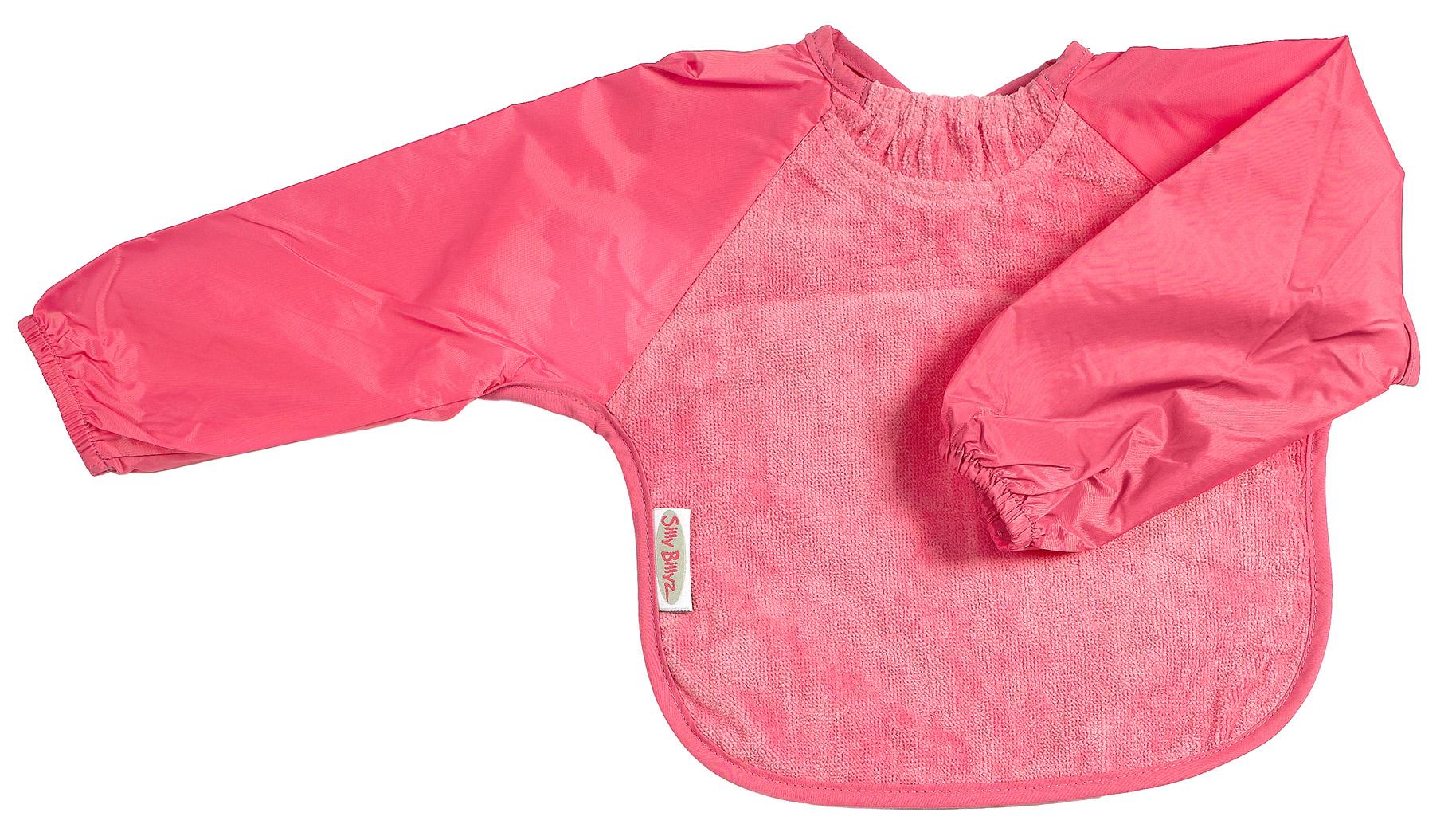 silly billyz cerise pink baby bibs towel fleece. Black Bedroom Furniture Sets. Home Design Ideas