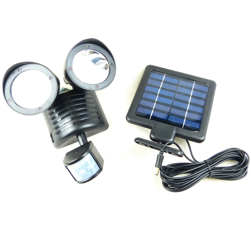 22 led solar powered motion sensor pir security light. Black Bedroom Furniture Sets. Home Design Ideas