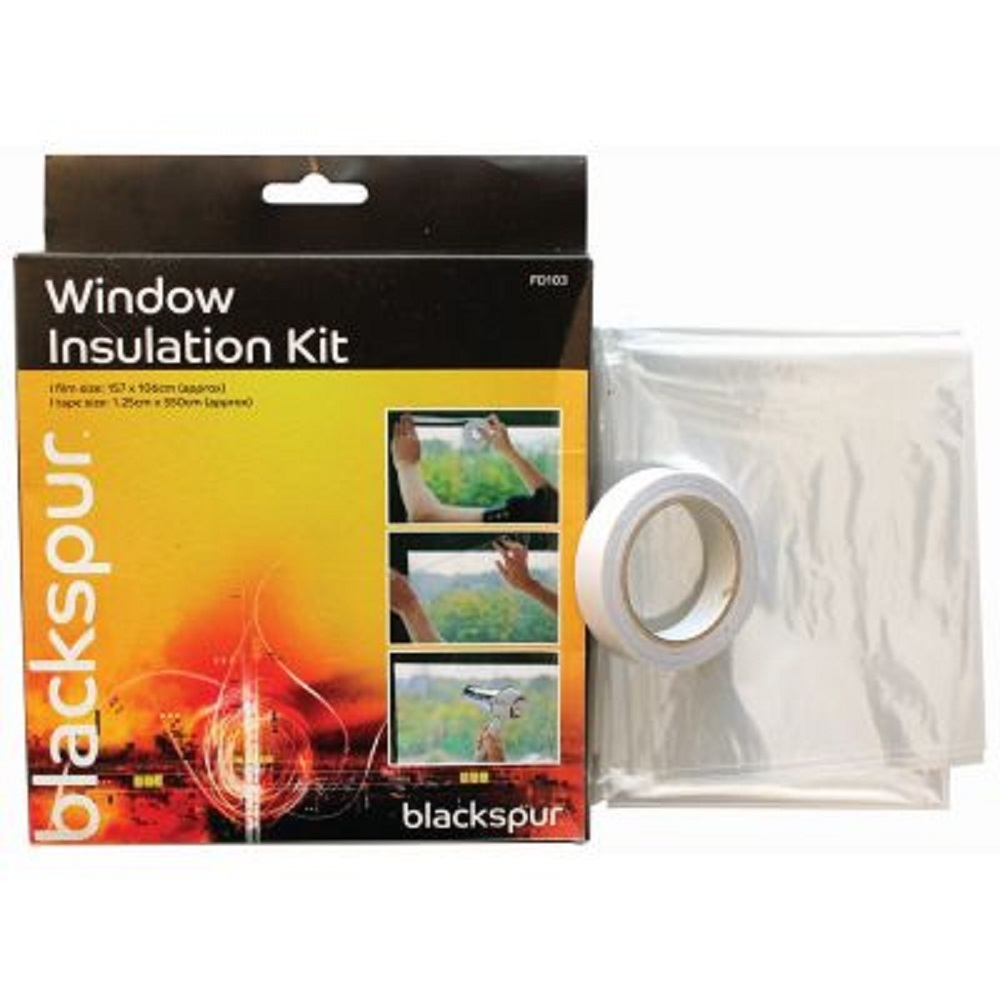 Window insulation film kit strip shrink fit draught for Window insulation kit