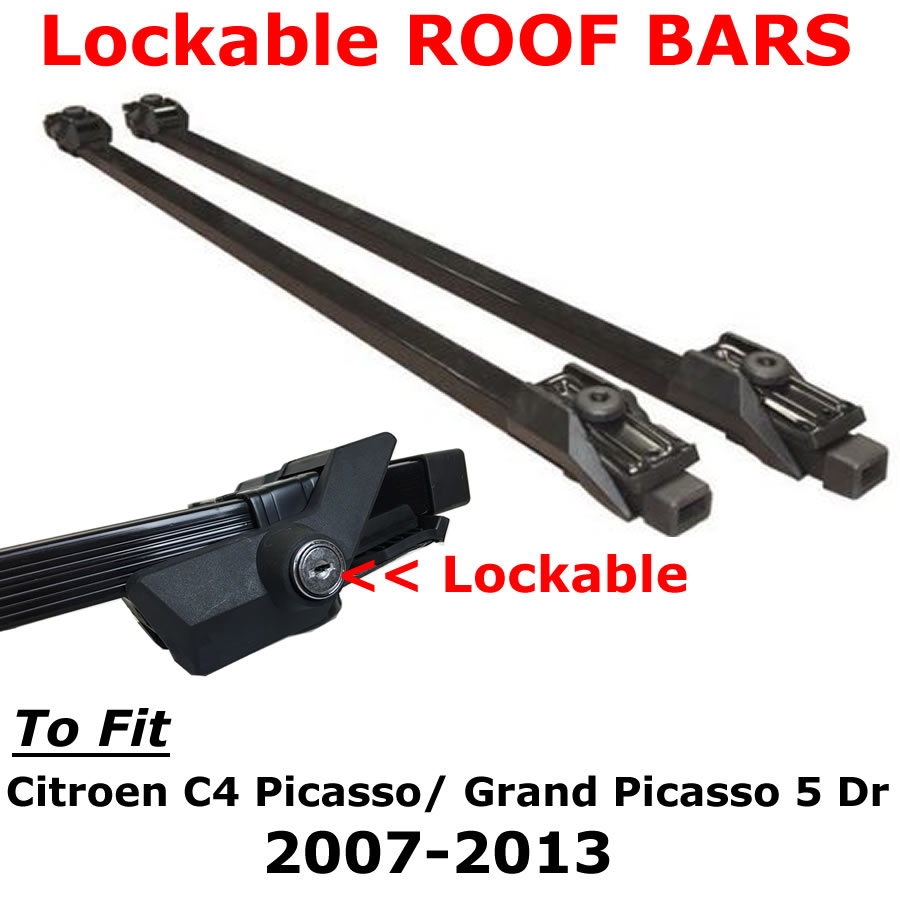 citroen c4 picasso grand picasso 5 dr 07 13 quality lockable roof bars ebay. Black Bedroom Furniture Sets. Home Design Ideas