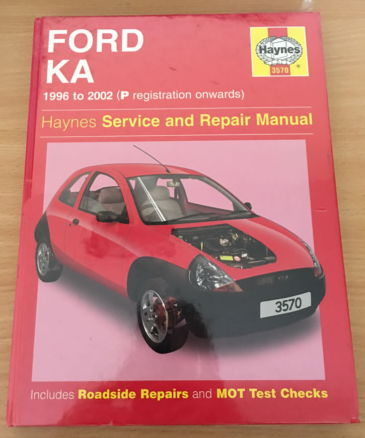 ford ka 1996 2002 p reg onwards haynes manual 3570 ebay. Black Bedroom Furniture Sets. Home Design Ideas