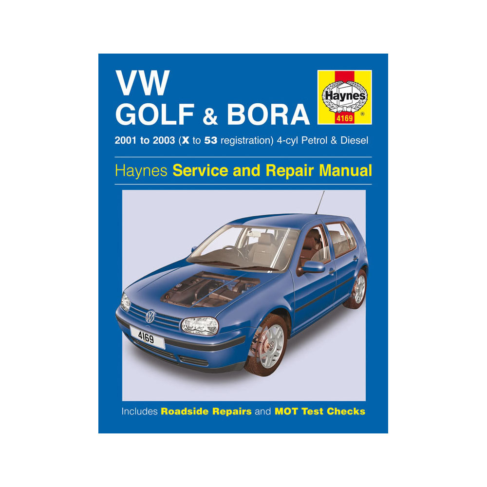 vw golf bora 1 4 1 6 1 8 2 0 petrol 1 9 diesel 01 03 x to 53 reg haynes manual ebay. Black Bedroom Furniture Sets. Home Design Ideas