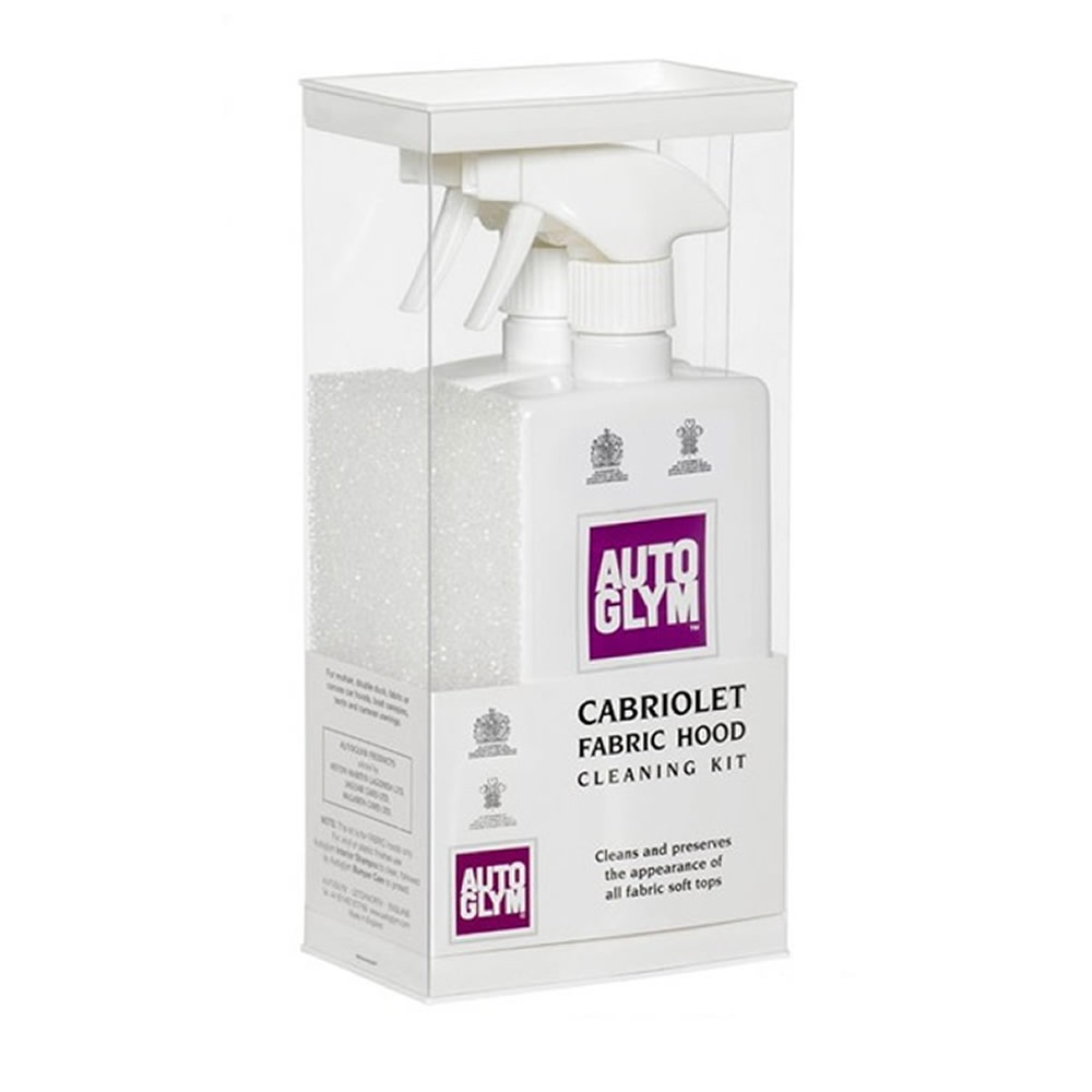 autoglym fabric hood roof cleaner kit cabriolet soft top clean and protect kit ebay. Black Bedroom Furniture Sets. Home Design Ideas
