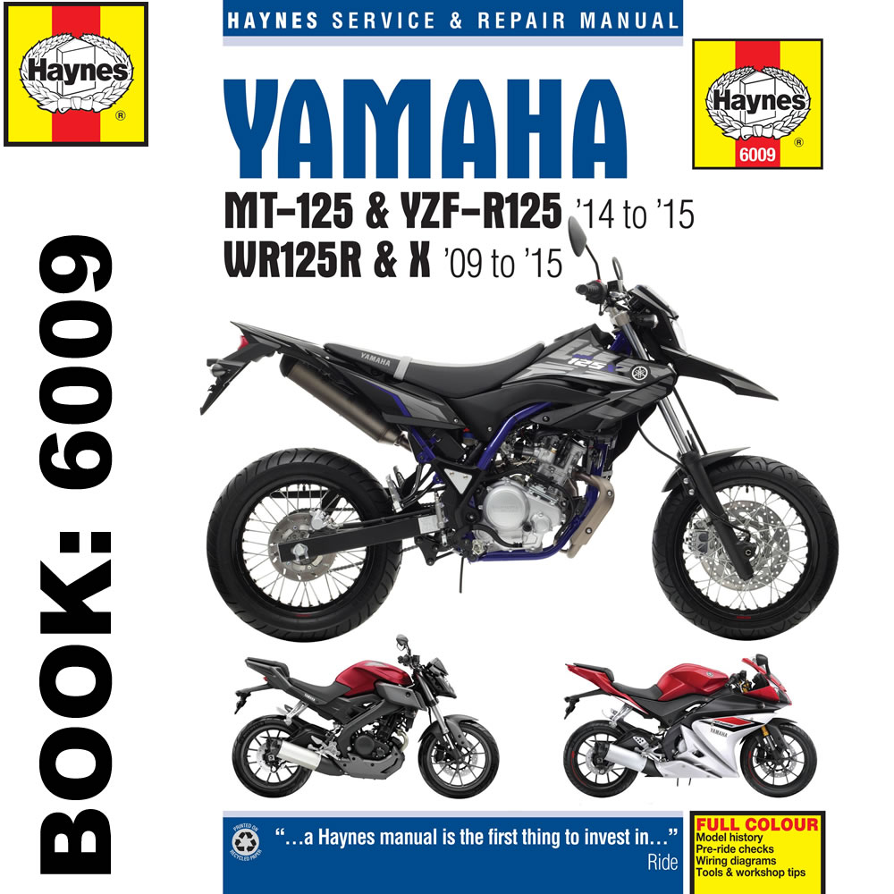 Yamaha Wr125x Wiring Diagram : Yamaha mt yzf r wr haynes workshop