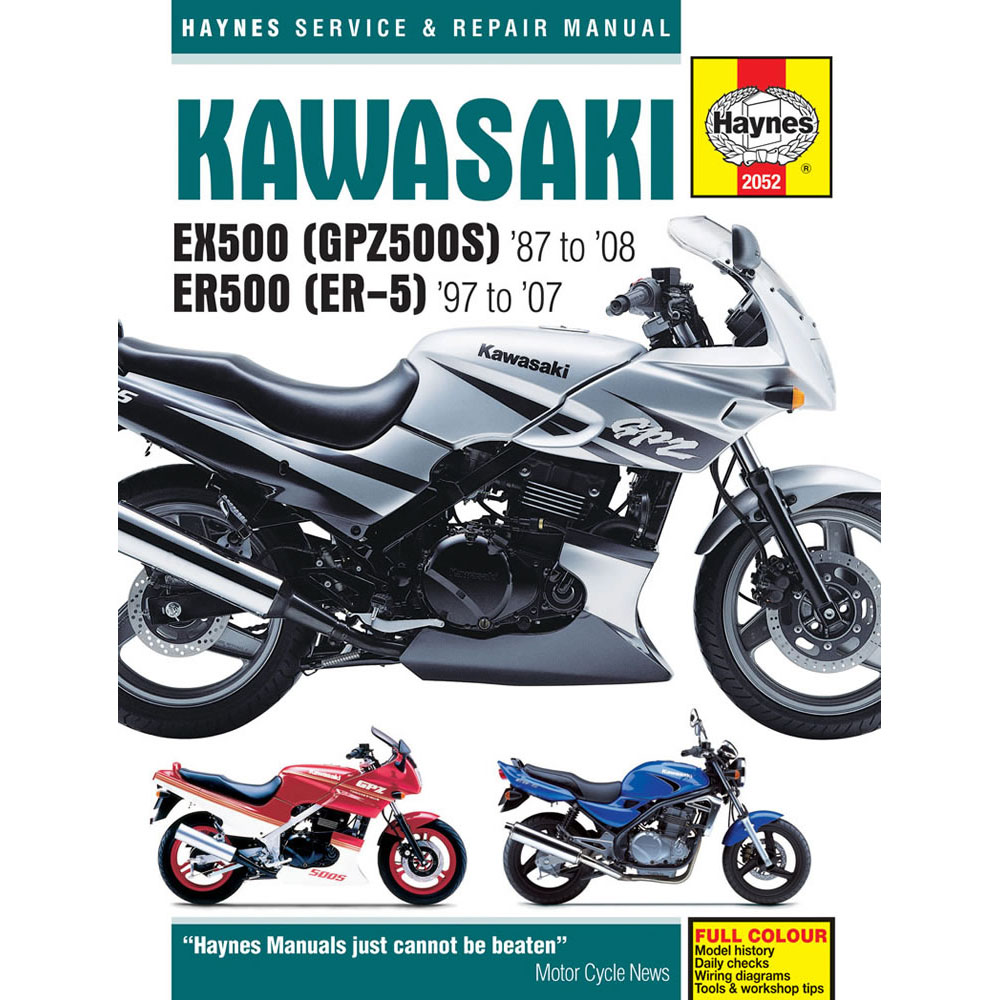 Haynes Manual Kawasaki Ex500 Gpz500s Er500 Er