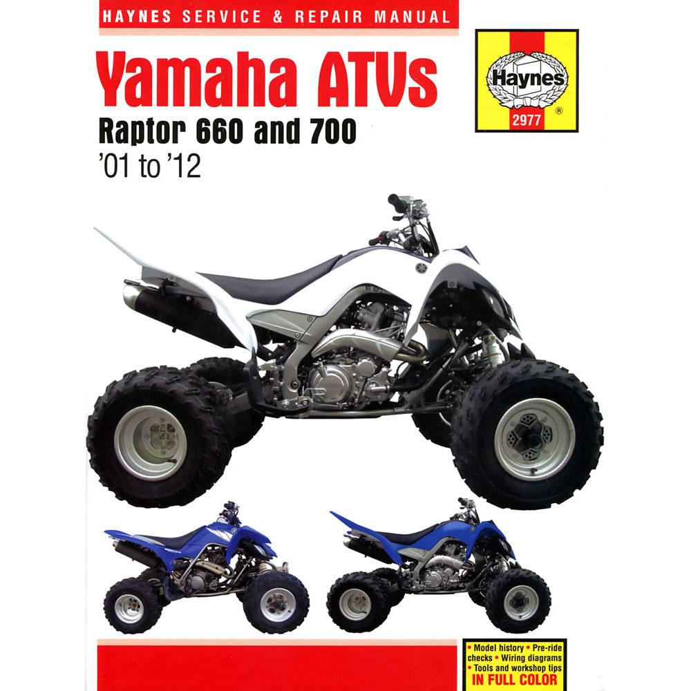 haynes manual yamaha raptor 660 700 atvs 2001 12 ebay. Black Bedroom Furniture Sets. Home Design Ideas