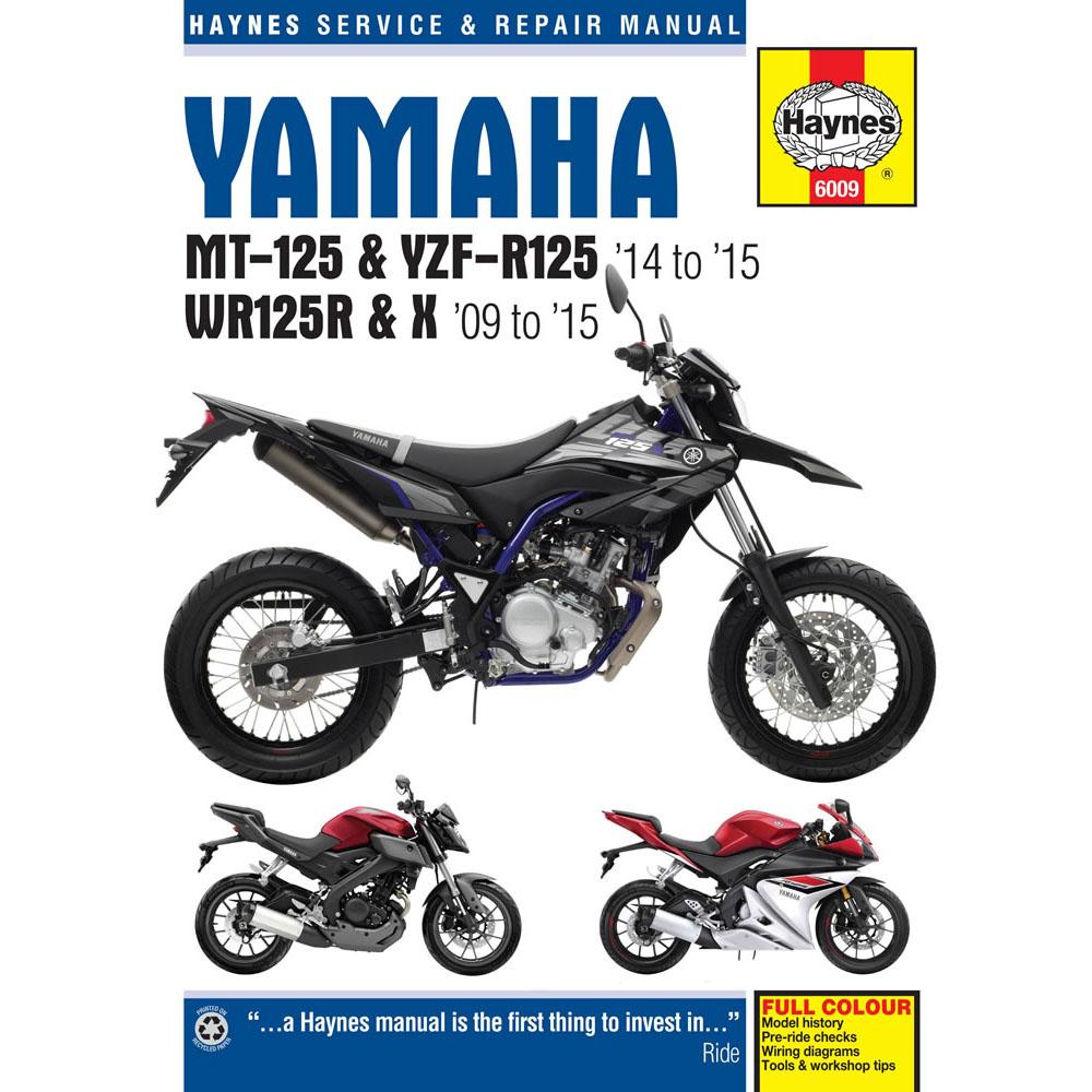 haynes manual yamaha mt 125 yzf r125 wr125r x 2009 15 ebay. Black Bedroom Furniture Sets. Home Design Ideas