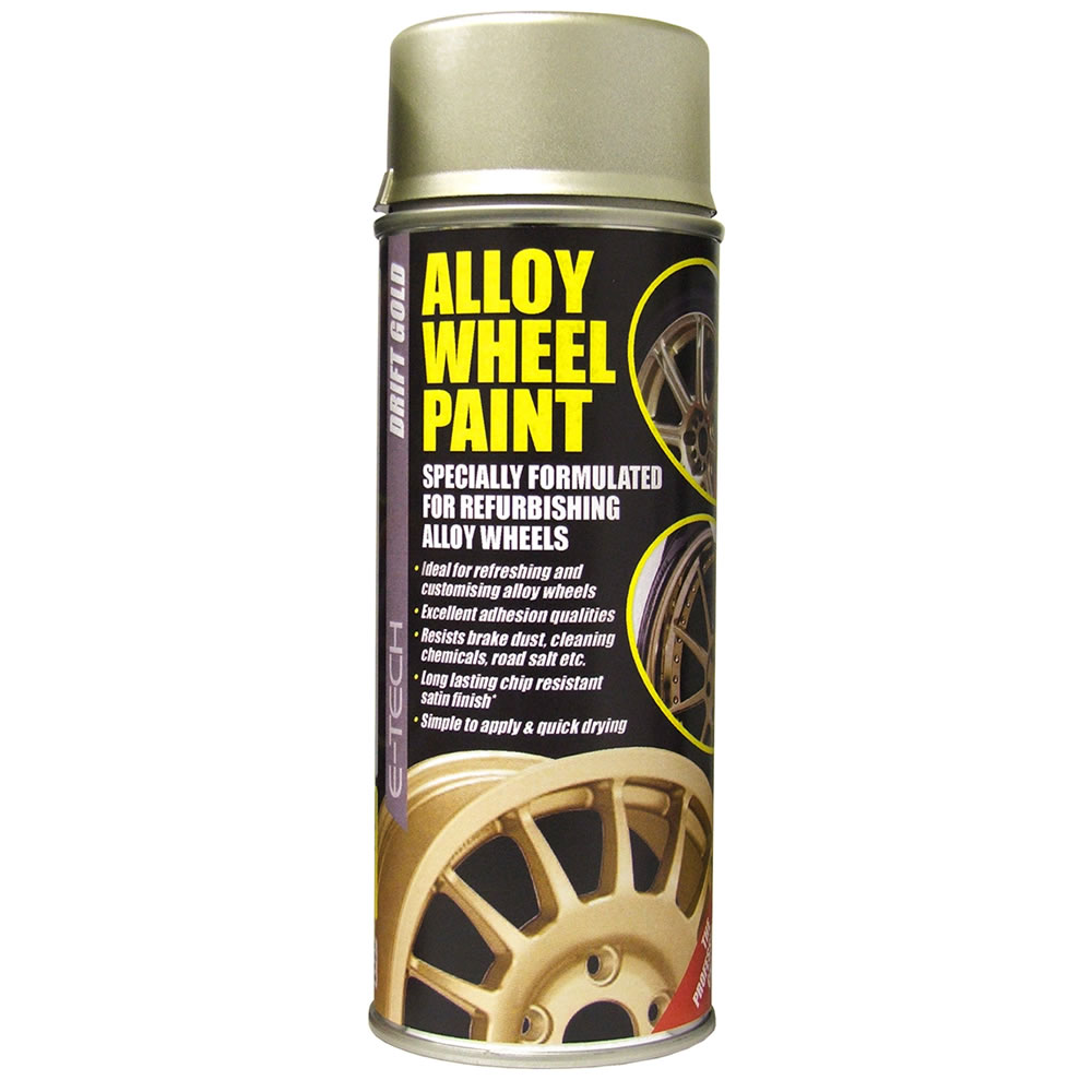 e tech car alloy wheel spray paint drift gold 400ml can. Black Bedroom Furniture Sets. Home Design Ideas