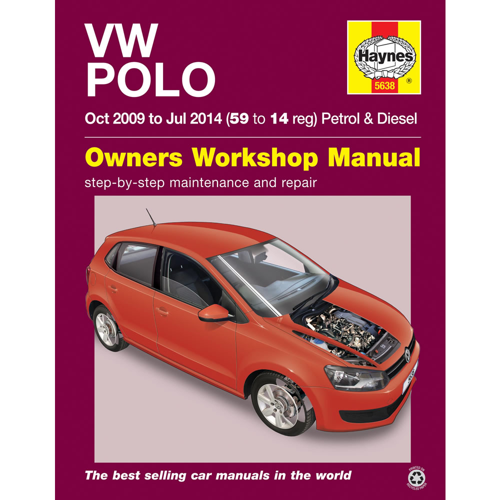 vw polo 1 2 1 4 petrol 1 2 1 6 diesel 2009 2014 haynes. Black Bedroom Furniture Sets. Home Design Ideas