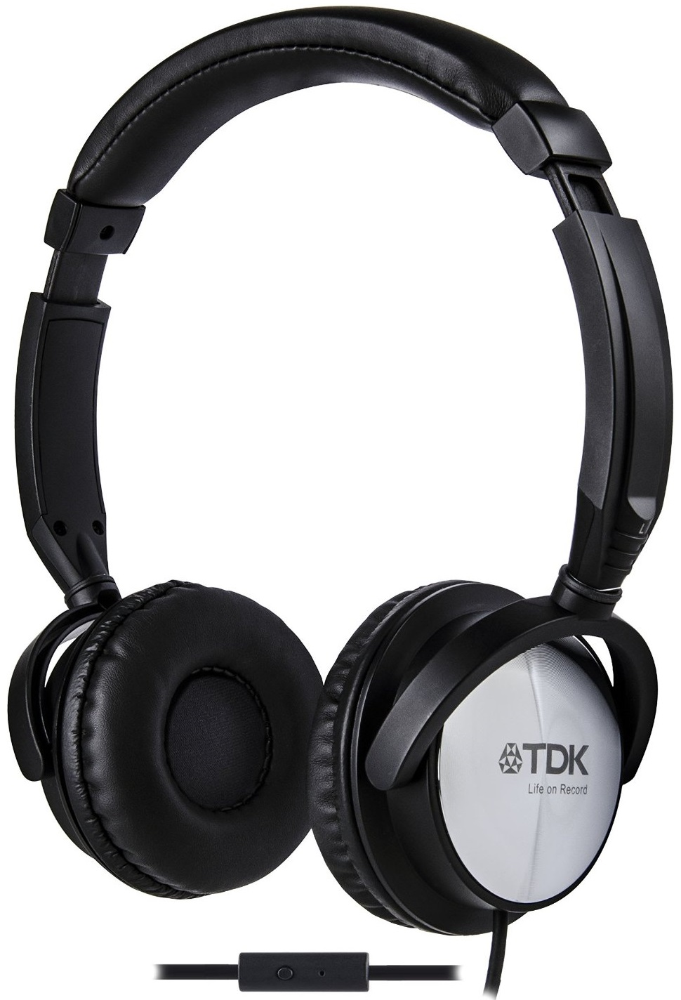 tdk st170 over ear headphones black with microphone mic ebay. Black Bedroom Furniture Sets. Home Design Ideas