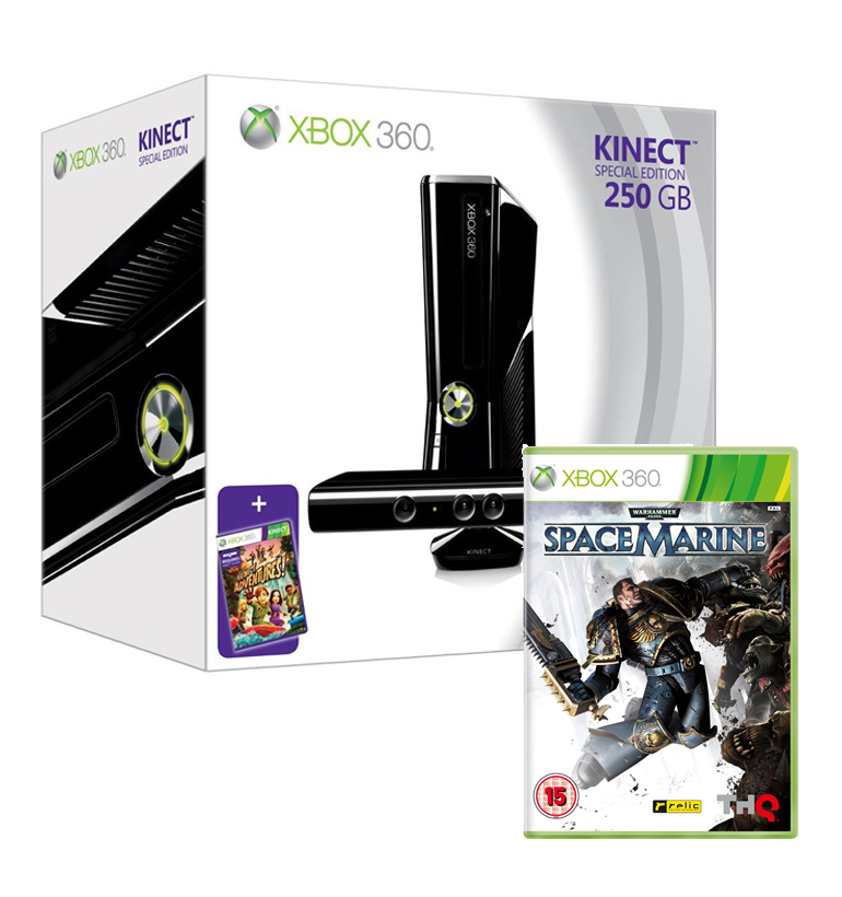 Xbox 360 bundle with 250gb console kinect warhammer 40000 space marine ebay - Xbox 360 console kinect bundle ...