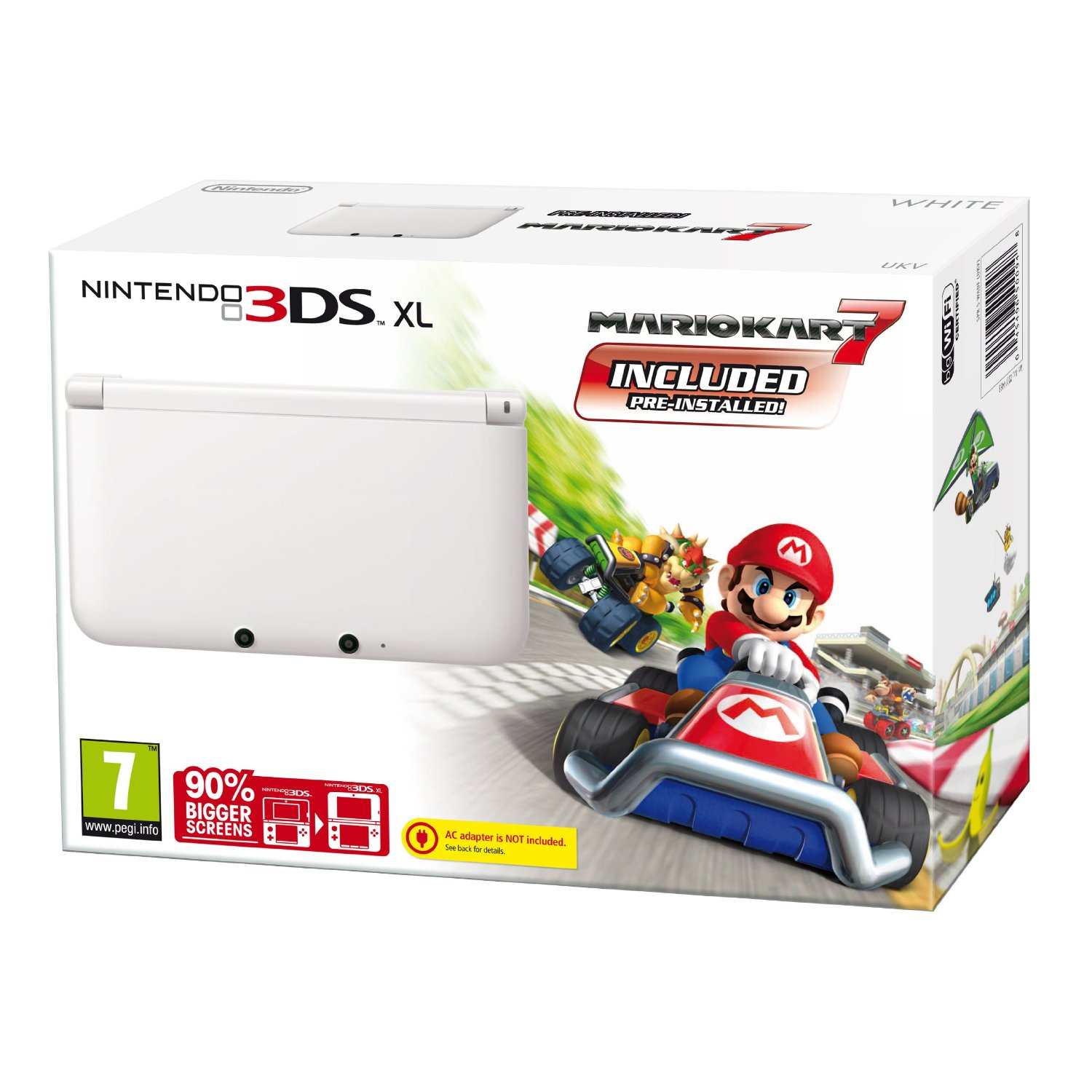 nintendo handheld console 3ds xl white mario kart 7 limited edition ebay. Black Bedroom Furniture Sets. Home Design Ideas