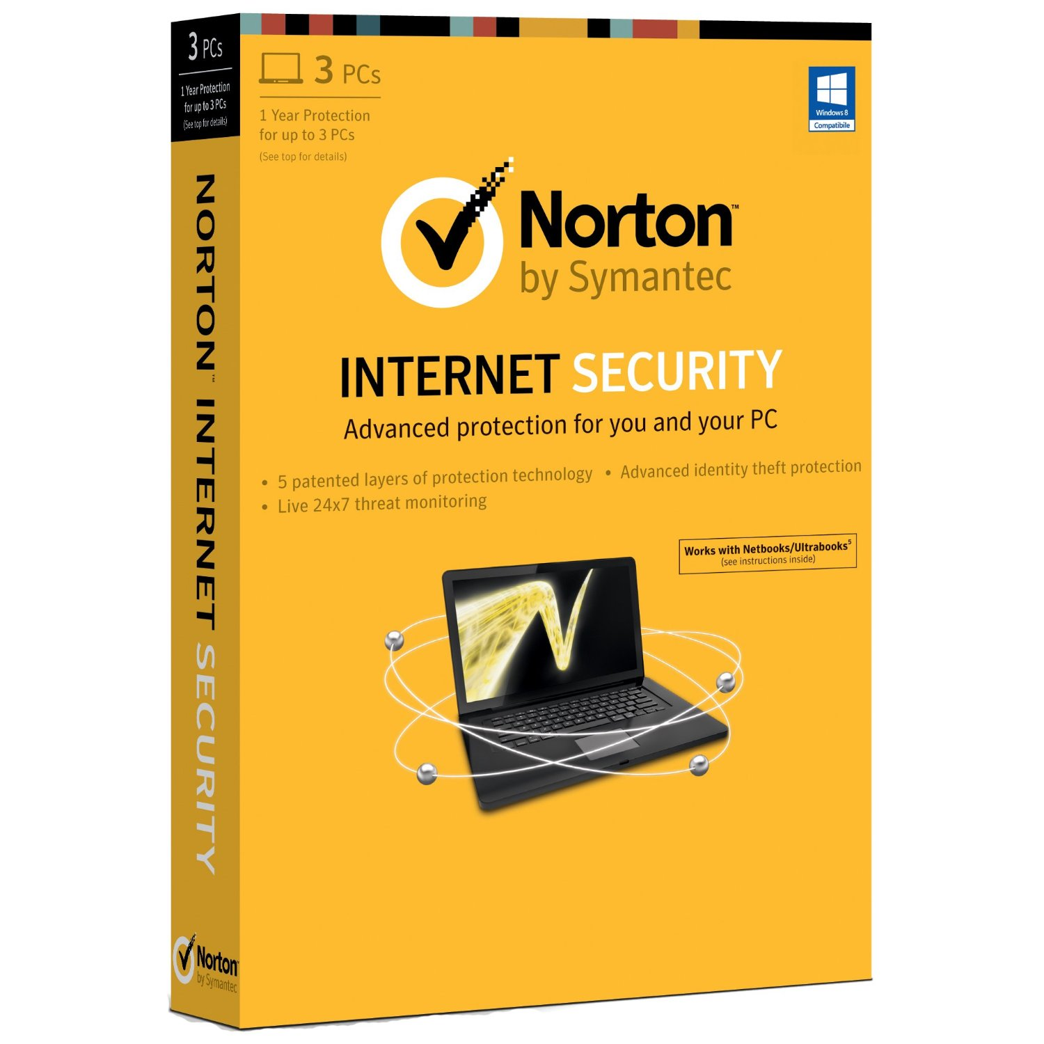 Norton Internet Security 2014 3 Computers 1 Year Subscription PC)