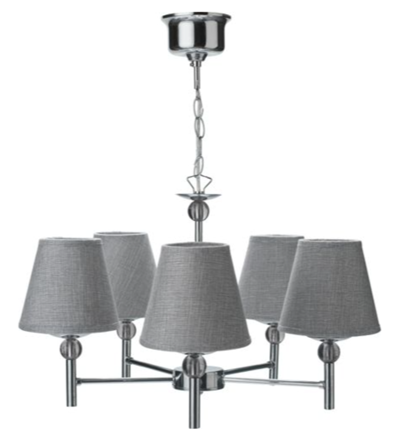 Brathwaite 5 Light Ceiling Light Silver RRP £30 lot UNTGD
