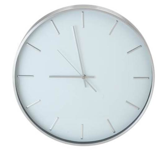 mina metal wall clock silver and white rrp lot gd 5385555 ebay. Black Bedroom Furniture Sets. Home Design Ideas