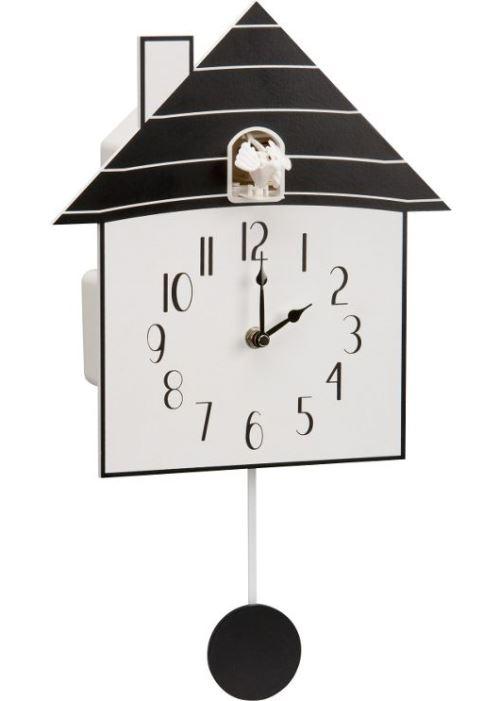 Modern Black Wooden Cuckoo Wall Clock Black And White Rrp