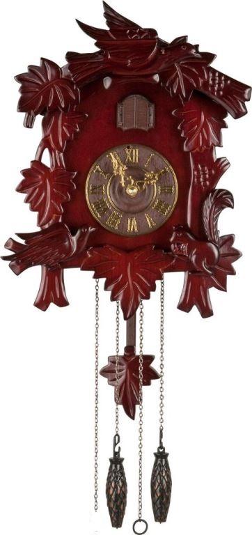 Wooden cuckoo pendulum wall clock rrp lot nigd 6236287 ebay - Cuckoo pendulum wall clock ...