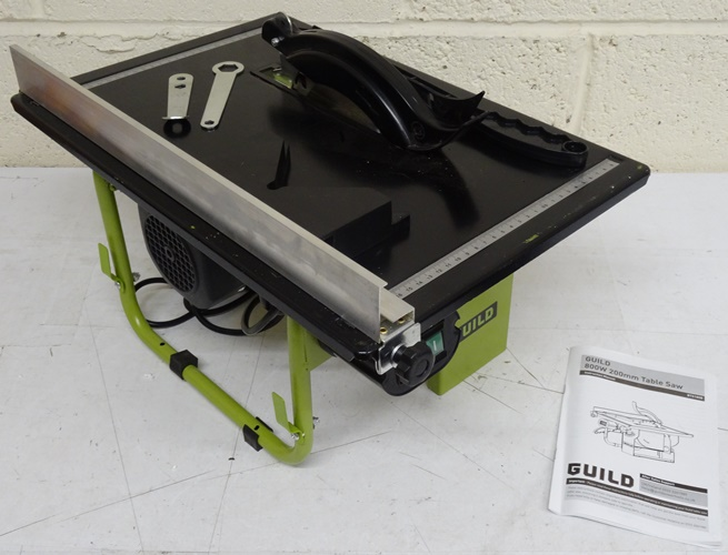 Guild table saw 800w green rrp lot b2331 4648561 ebay for 99 table saw