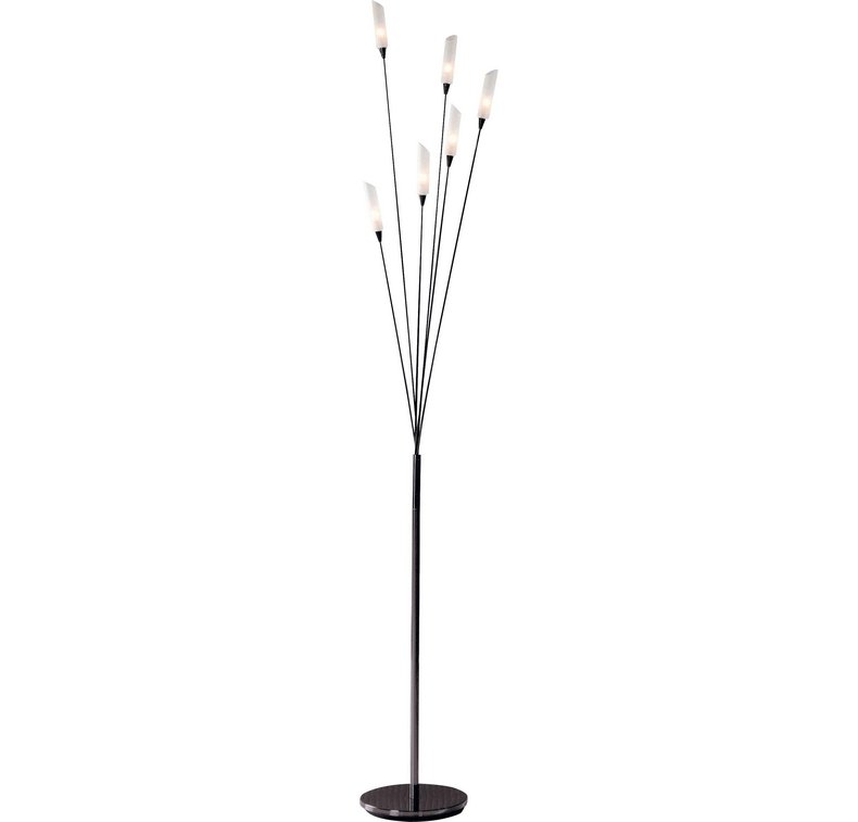 Hyatt 6 light floor lamp black chrome rrp 3999 lot gd for Hyatt 6 light floor lamp black chrome