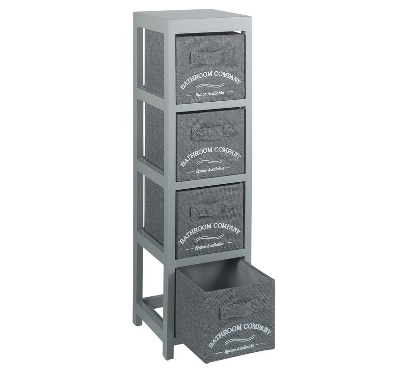 Collection Canvas 4 Drawer Bathroom Storage Units Grey RRP