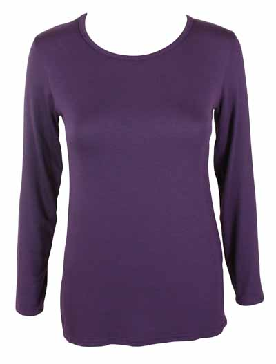 NEW-LADIES-PLAIN-STRETCH-LONG-SLEEVE-WOMENS-T-SHIRT-TOP