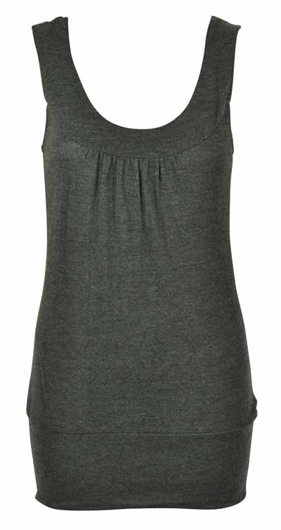 LADIES-PLAIN-STRETCH-WOMENS-LONG-VEST-TOP-SIZE-8-10