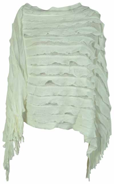 NEW-LADIES-RUFFLE-KNITTED-TASSEL-FRINGE-PANEL-PONCHO-CAPE-WOMENS-JUMPER-WRAP-TOP