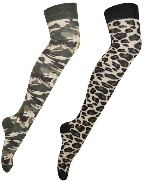 b70abef9da1 chaussettes femme leopard