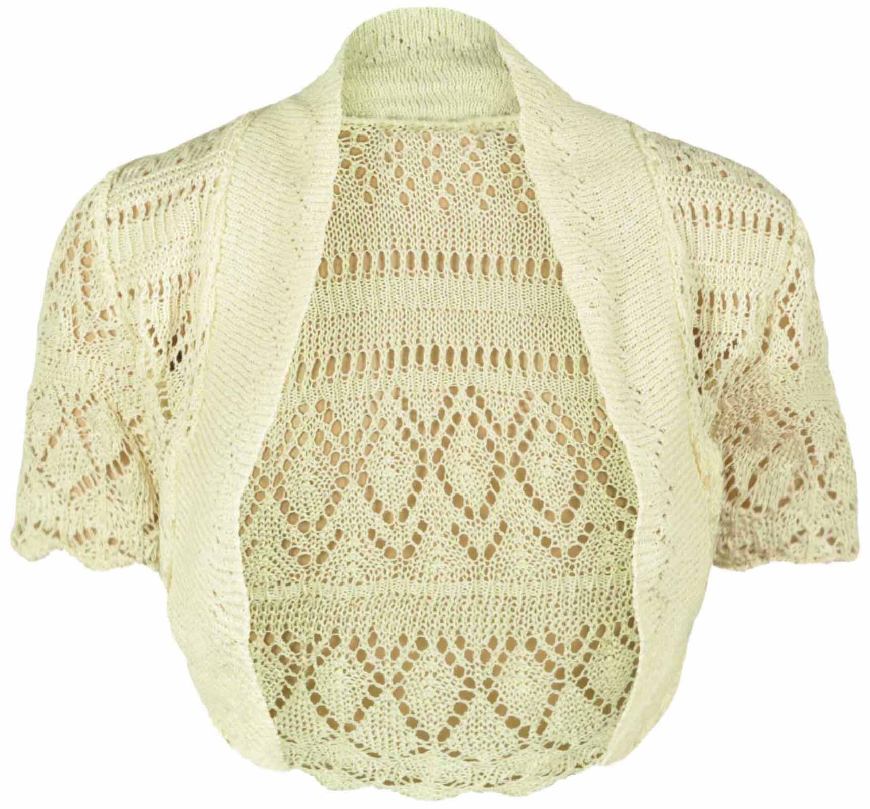 NEW LADIES KNITTED BOLERO SHRUG WOMENS TOP SIZE 8 - 14 | eBay