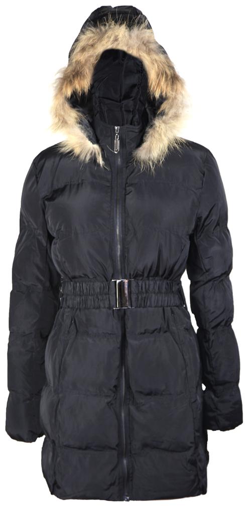 Women s Long Hooded Wool Coat Black