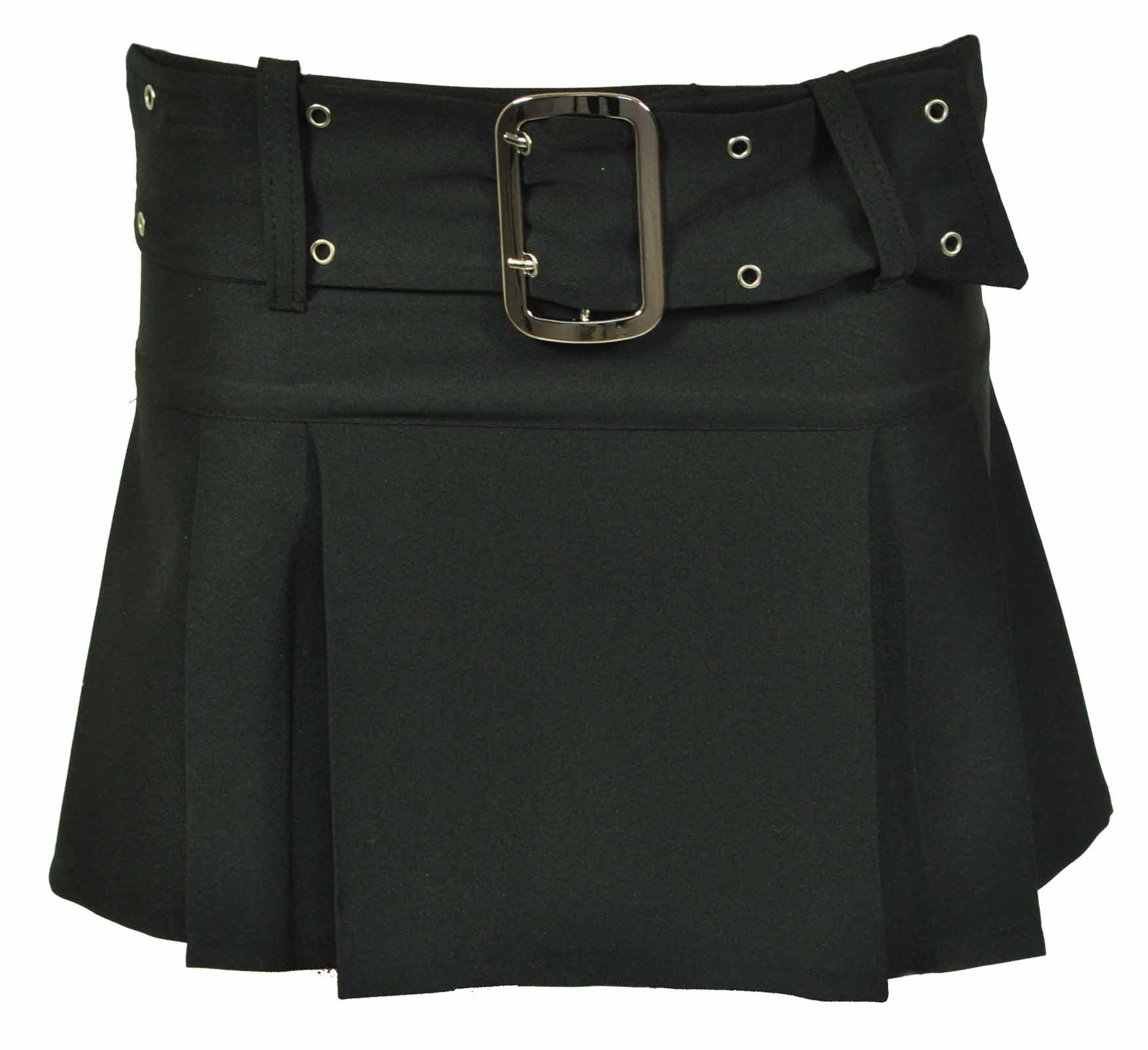 new black pleated womens buckle mini skirt 6 14 ebay