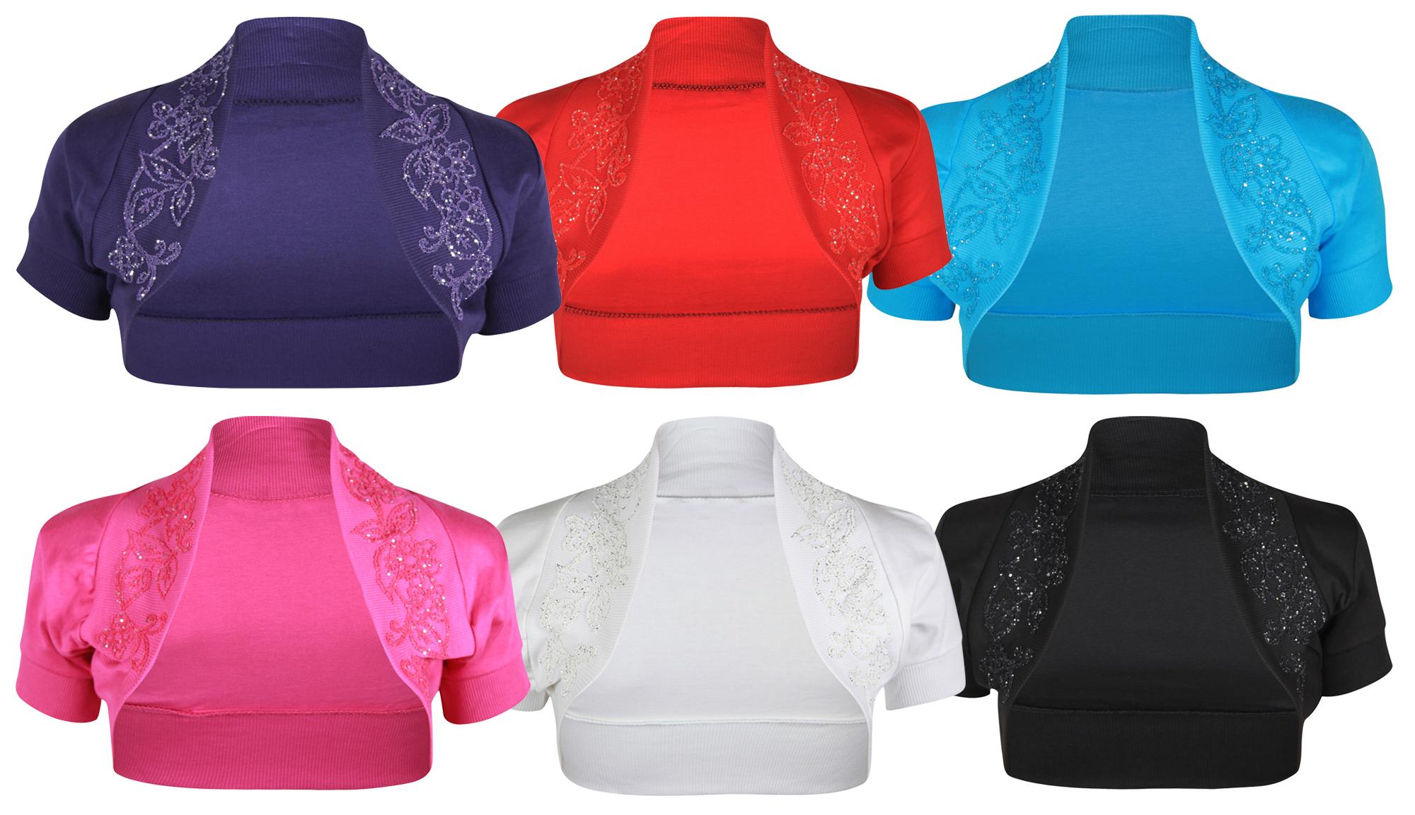 LADIES NEW SHORT CAP SLEEVE BOLERO TOP WOMENS BEADED GLITTER ...