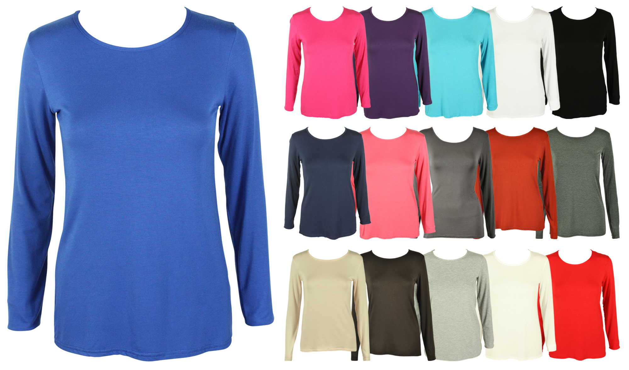 Womens New Classic Long Sleeve T Shirt Ladies Casual