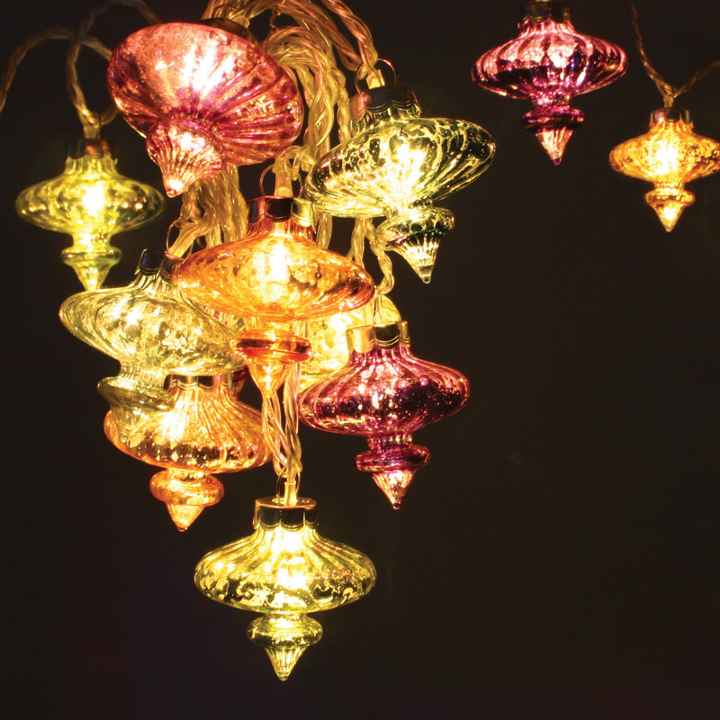 Fairy Lights-Kasbah Lanterns 20 LED String Lights - Mains Powered - ThinkGadgets eBay