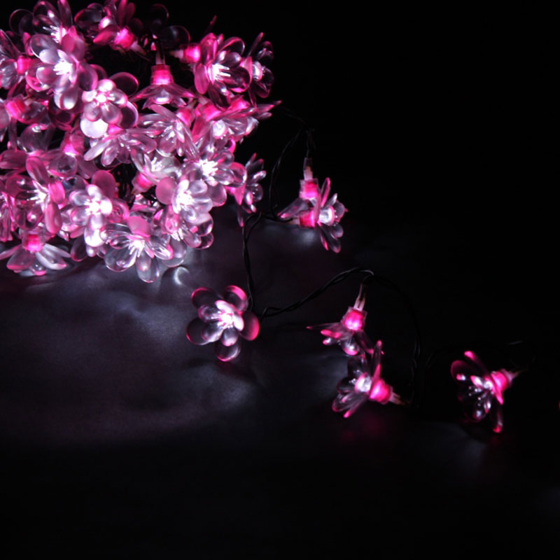 String Lights Mains : Fairy Lights-Pink Moon Flower-50 LED String Lights - Mains Powered-ThinkGadgets eBay