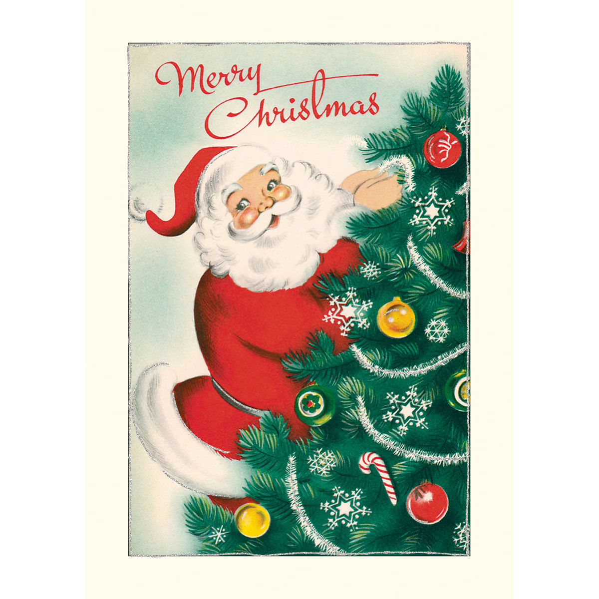 10 Glitter Greetings Christmas Cards/Notes