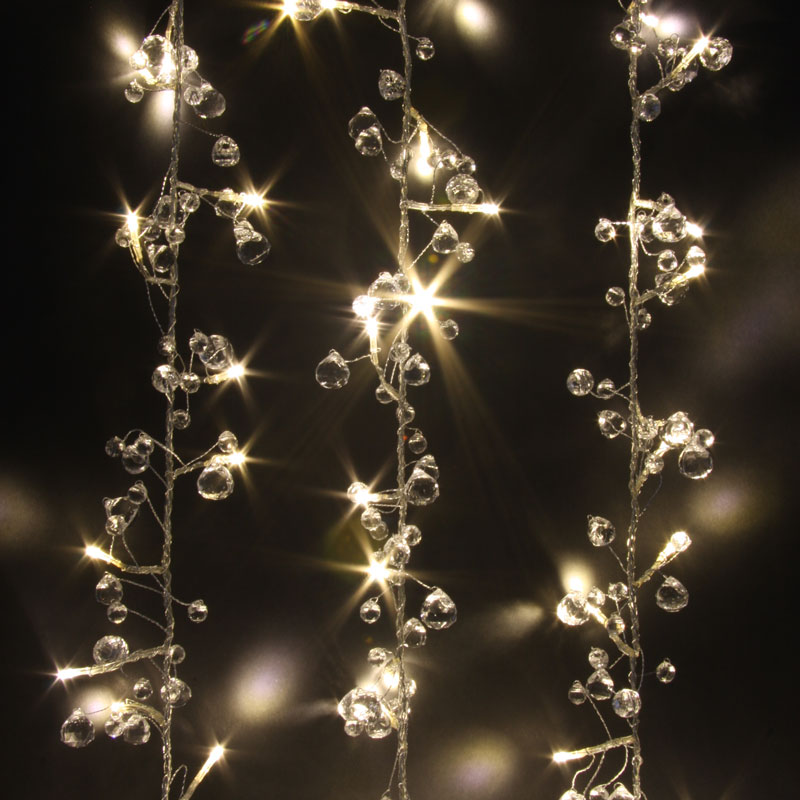 Crystal Chic - 50 LED Indoor String Light Chain - Mains Powered - Transformer Su eBay