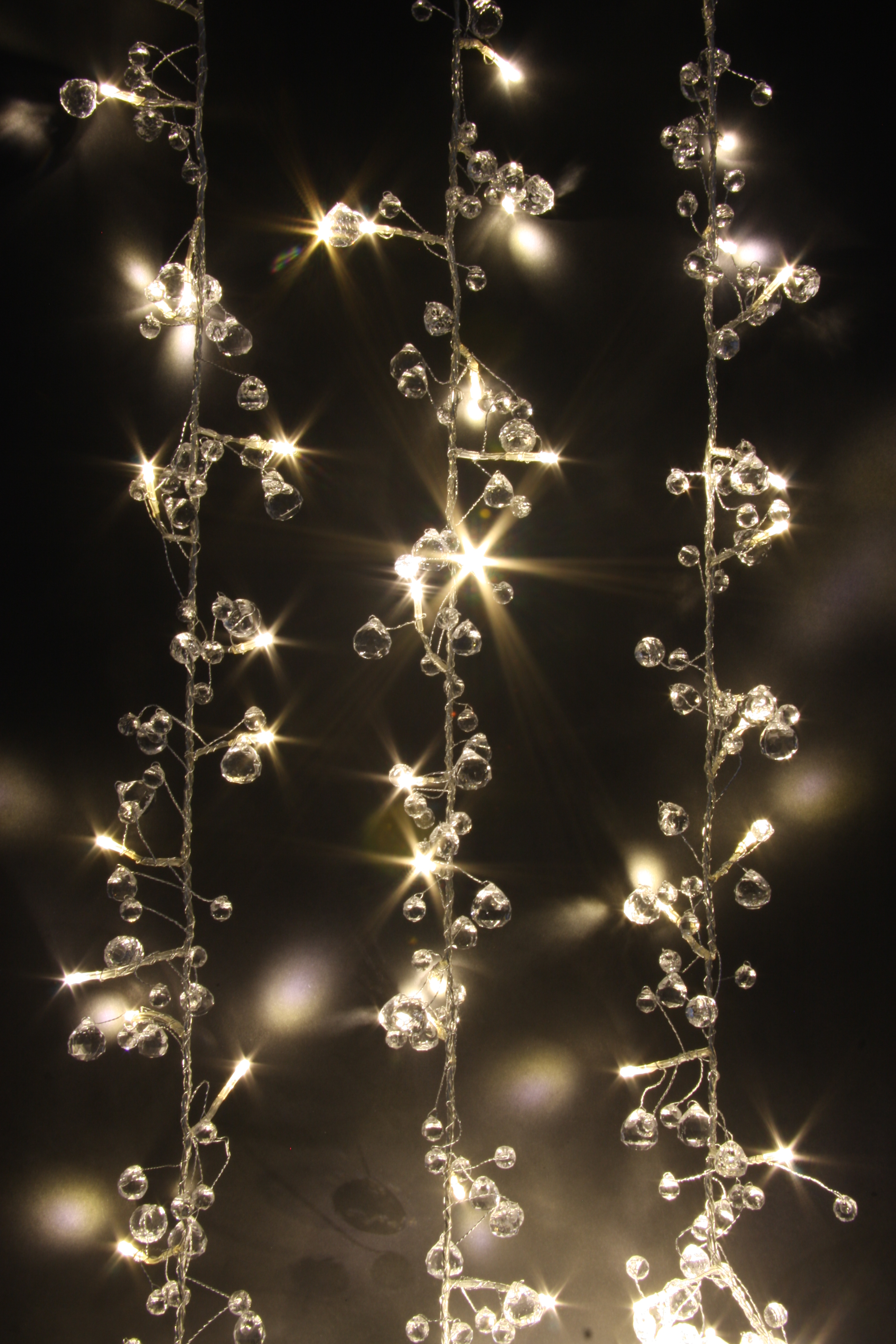 Fairy Lights - Crystal Chic - 50 LED String Lights - Mains Powered-ThinkGadgets eBay