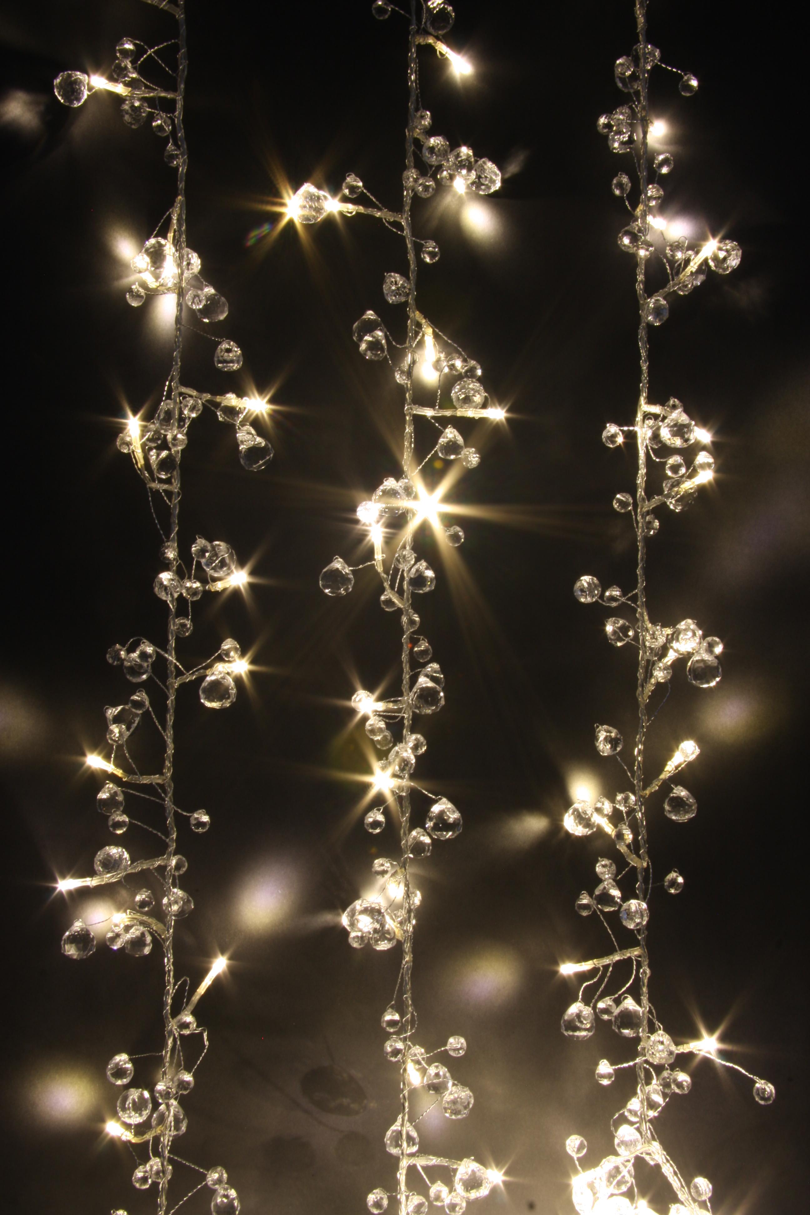 String Lights Mains : Fairy Lights - Crystal Chic - 50 LED String Lights - Mains Powered-ThinkGadgets eBay